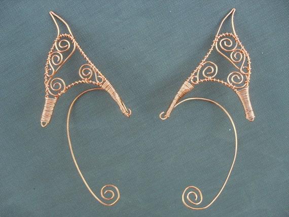 Pair of Custom pointed elf ear cuffs