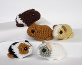 Crocheted guinea pig babies (made to order)