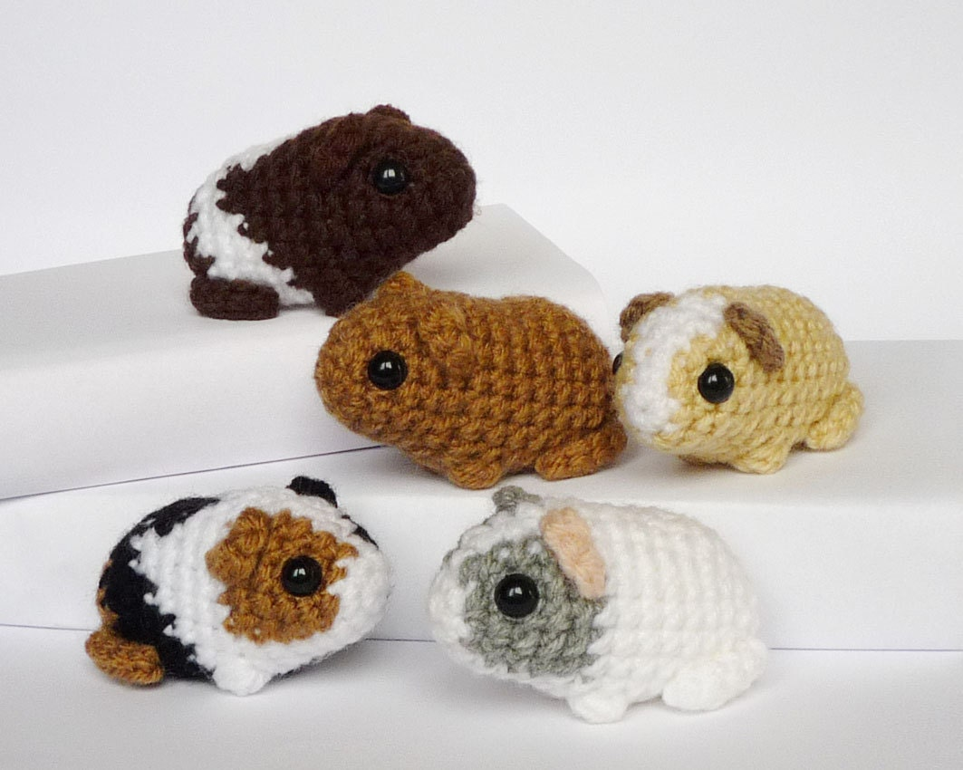 Crocheted guinea pig babies made to order by LunasCrafts ...