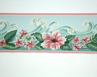 Items Similar To Sale Vintage Wallpaper Border Pink Roses