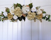 Floral Design Hydrangea Roses Beige Gold Home & Wedding