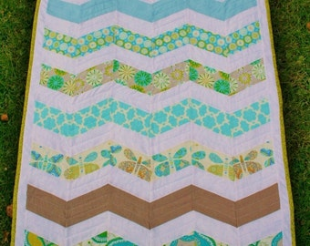 Chevron Zigzag BABY QUILT PATTERN Instant Download