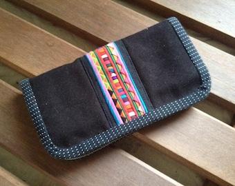SALE Handmade tribal zippy wallet