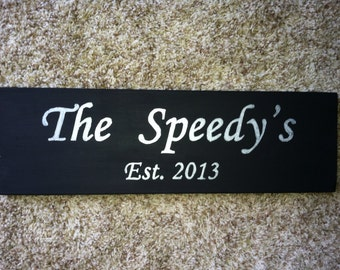 Hand painted customized marriage sign