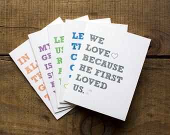 Bold Encouragement Greeting Cards - Set of 5