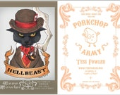 2.5 x 3.5 SDCC Exclusive Hellbeast/Porkchop Army Cabinet Card