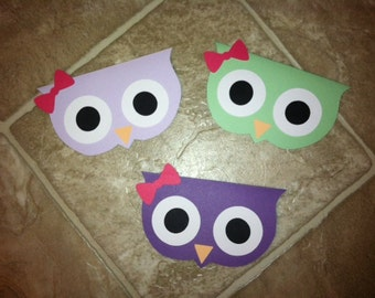 Set of 10 Owl Party Bags