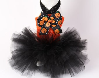 HALLOWEEN Dog Tutu Dress -- Happy Pumpkins