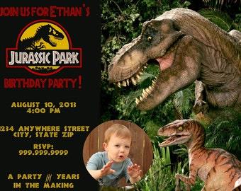 Jurassic Park Personalized Invitation