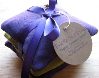 Moth Protector Closet Sachets with Organic Lavender Organic Cedar and Clove Sachets for Closets and Drawers
