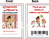 Jake and the Neverland Pirates Printable Personalized Coloring Book - Party Favor