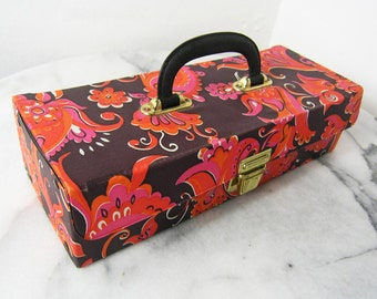 Vintage Cassette Case, Bag, Retro Bag, Vintage 1960s 1970s Carry Box