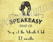 Soap of the Month Club - 12 months, Speakeasy Soap, vegan, handmade