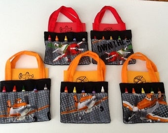 Planes Children's Crayon Bag and Customized Paper, Party Favor