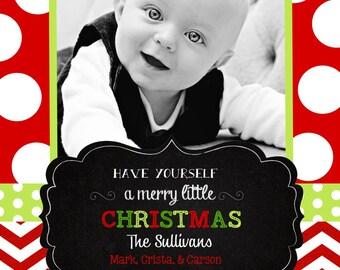 Chevron  Christmas  Cards