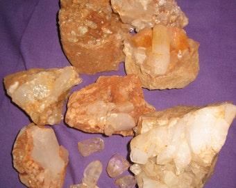 Rock crystal - Arkansas raw crystal collection