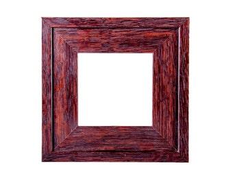 4x4 Mission style tile frame, soilid quarter-sawn fumed white oak tile frame.