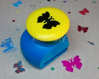 22x17mm large size paper punch -- butterfly