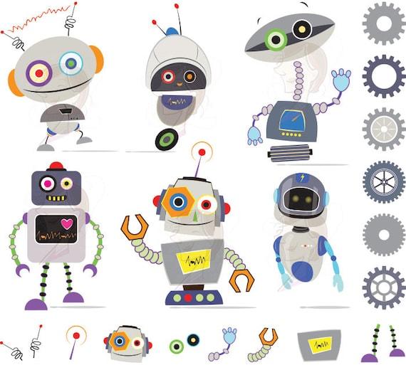 cute robot clipart - photo #47