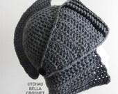 Knight Helmet - Crochet - Spartan, Trojan, Titan Helmet Hat - Snowboard, Ski Beanie