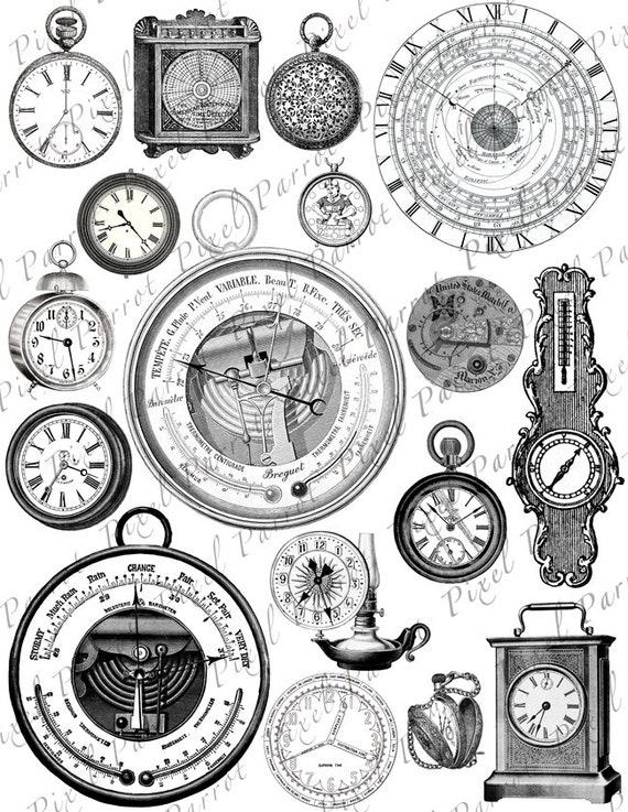 clipart of watches and clocks - photo #19