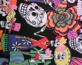 SUGAR SKULL PARTY - Ponytail -  Surgical Scrub Cap