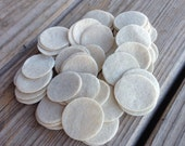 25 tan felt circles 1.2 inch diameter for making baby headbands brooches clips finishing tool supply beige