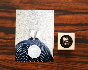 You Are Here Baby Bump Scrapbooking Project Life Stamp Circle
