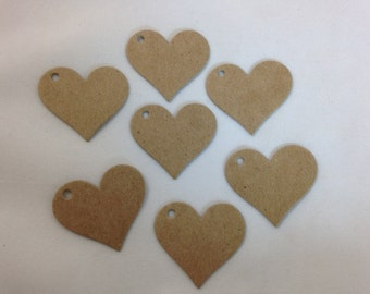 1000 Small Heart Chipboard Price Tags - Hang Tags - Craft Tags