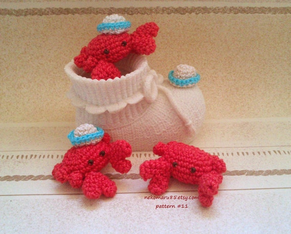 Amigurumi Crochet Hat Patterns : Crochet Amigurumi Crab with Hat pattern pdf 11 Permission