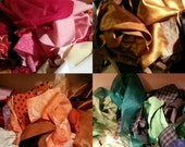 Scrap Fabric Grab Bag Bundle Free Shipping for Multiple DIY Projects Doll Clothing Pouch Patchwork Fabric Flowers