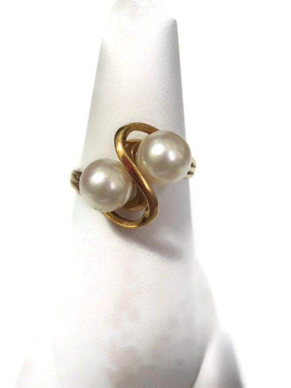 RESERVED Pearl 18K Gold Ring