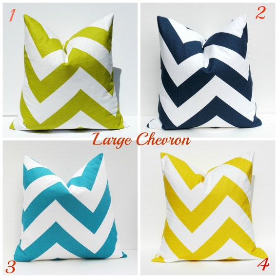 Chevron Pillow Covers Decorative Throw Pillow by EastAndNest