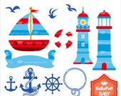 Nautical Clip Art ---- Clipart Digital Files, Personal and Small Commercial Use ---- BB 0449