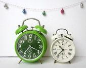 2 Vintage french JAZ alarm clock - Home decor - 1970- collection - Christmas gift