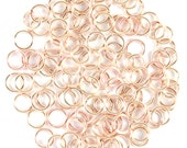 20ga 4.5mm Rose Gold 30 rings Handmade Jump Rings