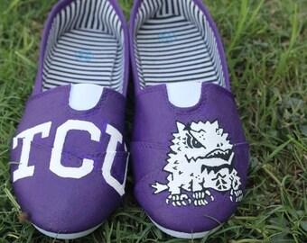 TCU Hand Painted Shoes