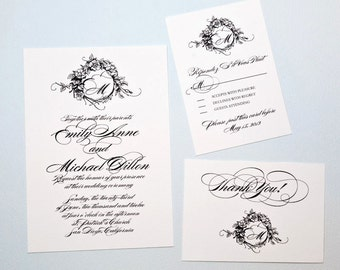 Monogram Wedding Invitation Suite