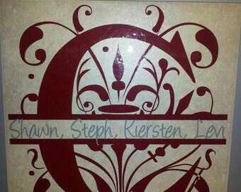 Personalized Split Letter Tile