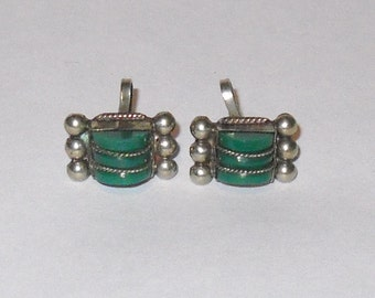 Mexican Silver and Malachite Earings