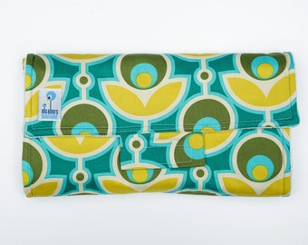 Travel Changing Mat, Baby Changing Pad - Joel Dewberry Notting Hill in Basil Fabric