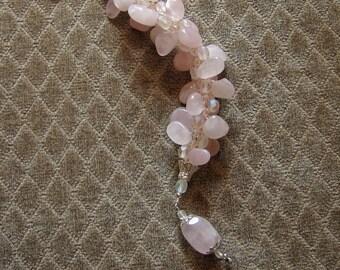 Rose Quartz Braided Bracelet