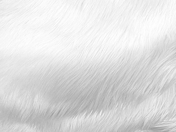 faux fake luxury shag fur white 1 yard by shadesofgloryfabrics. Black Bedroom Furniture Sets. Home Design Ideas
