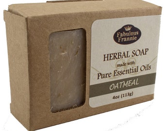 Oatmeal Unscented All Natural Herbal Soap Bar 4 oz