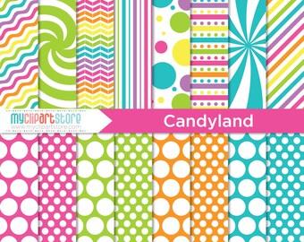 Digital Paper - Candyland - Instant Download