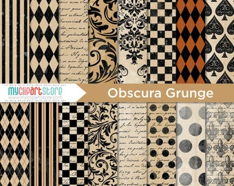 Digital Paper - Gothic / Obscura Carnival Grunge - vector graphics, digital clip art, digital images, commercial use clipart