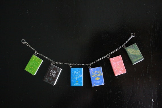 Classics by Women Authors Mini Book Bracelet