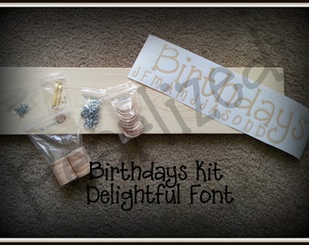 Standard Birthday Board Kit - Easy to Complete Board - Never Forget Birthdays Again