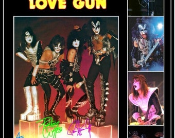 KISS Love Gun '77 Tour Group Stand-Up Display - Collection Collectibles Collector Memorabilia Retro Rock Band Christmas Gift Idea Posters