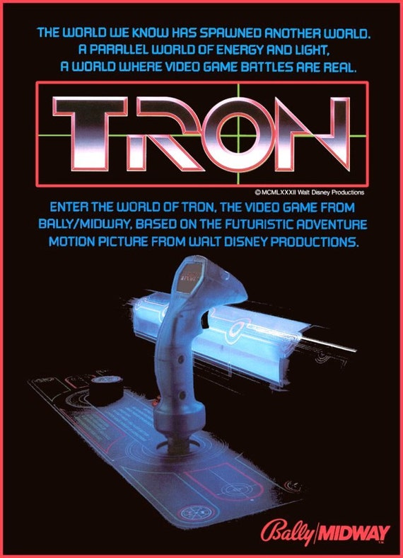 TRON Video Arcade Game Stand-Up Display